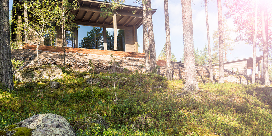 Arctic TreeHouse Hotel Glass House ulkoa