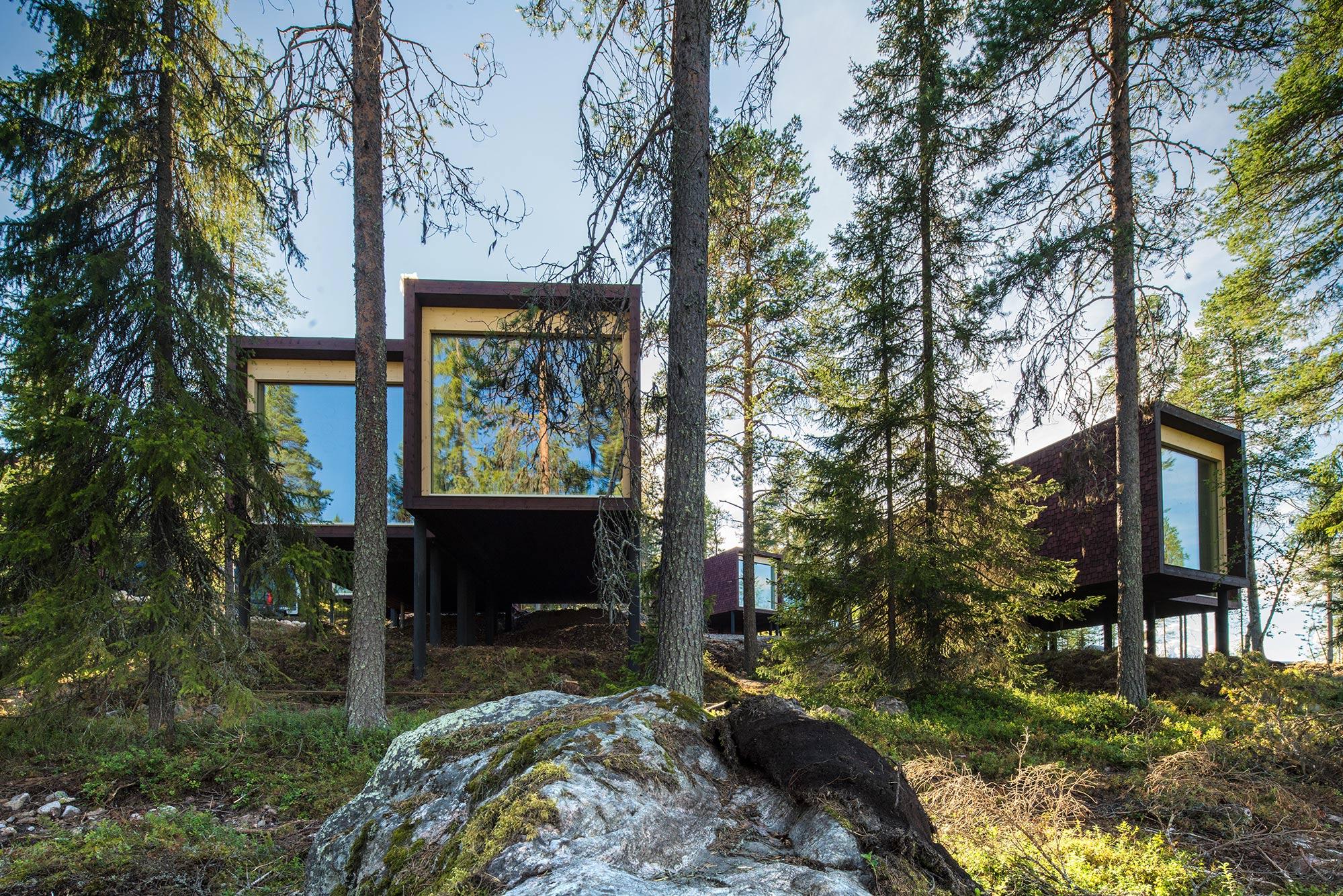 Arctic TreeHouse Hotel sviitit ulkoa