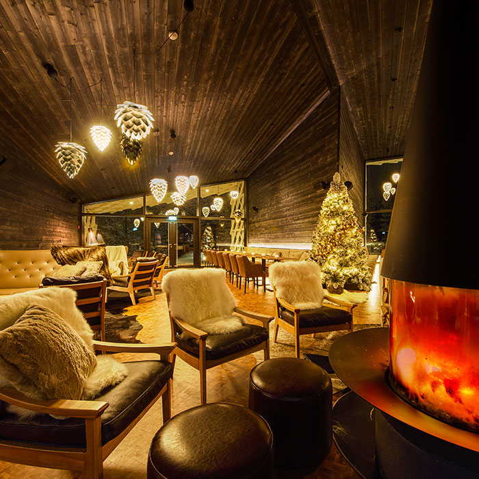 Arctic TreeHouse Hotel lounge