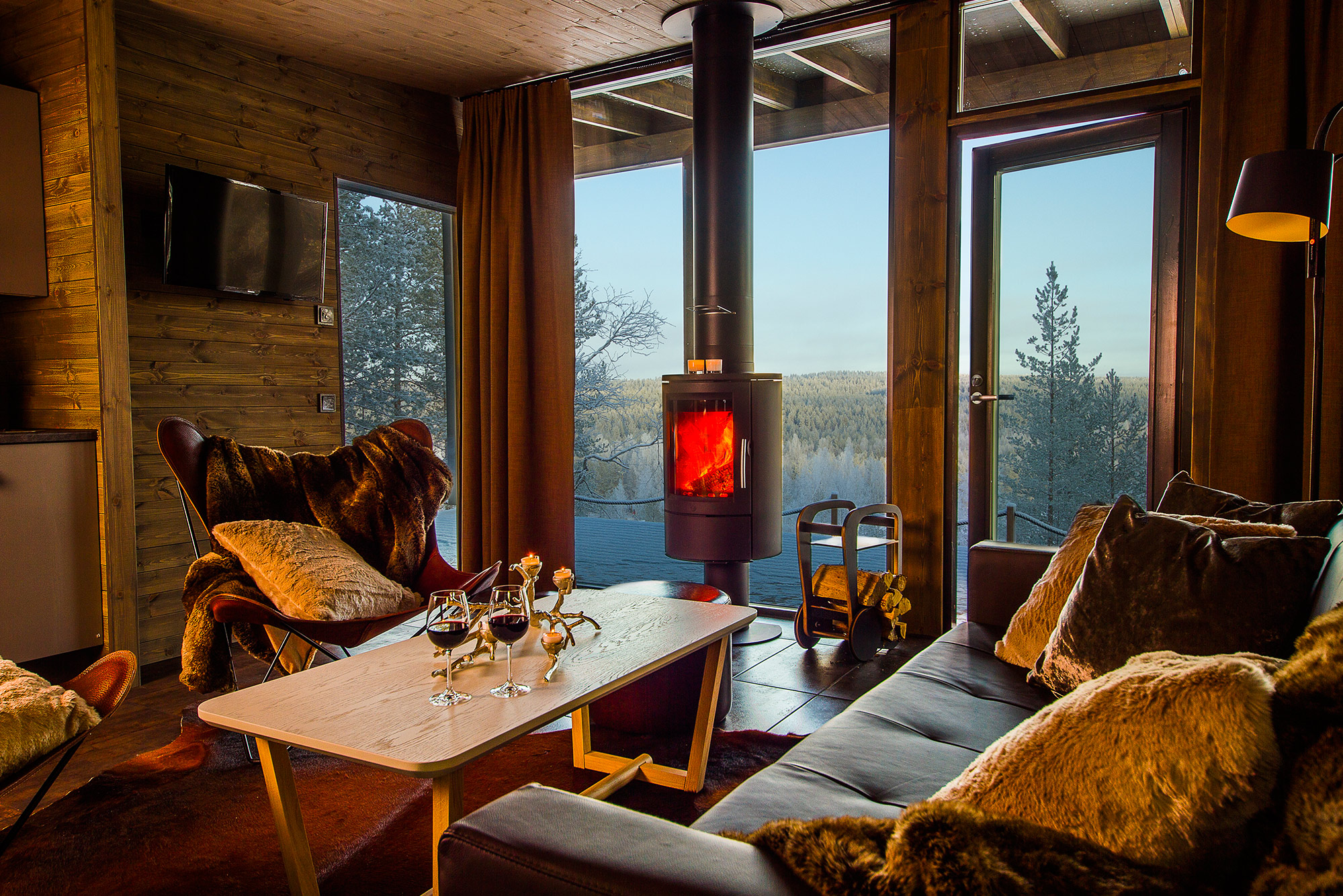 Arctic TreeHouse Hotel Arctic Glass House Lounge